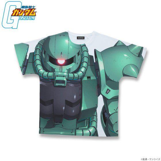 機動戦士ガンダム フルパネルTシャツ MS-06 量産型ザク 【2018年11月発送】