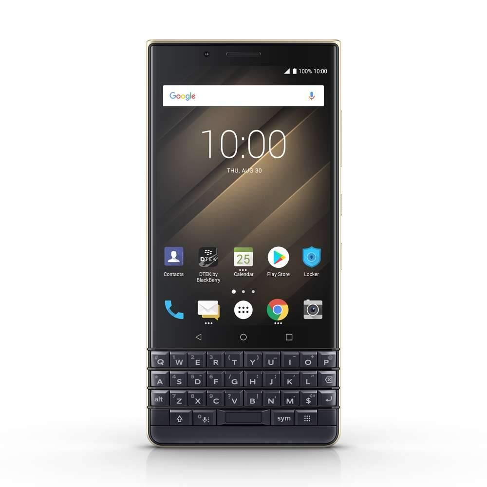 【正規販売代理店】ブラックベリー KEY2 LE Champagne Android OS Oreo 8.1 デュアルSIM 64GB ROM 4GB RAM Bluetoo...