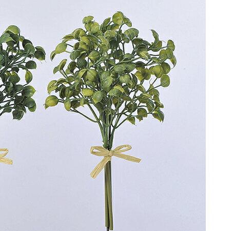 【造花】アスカ/エンジェルリーフバンチ (1束3本) ライトイエローグリーン/A-42369-053B【01】【取寄】