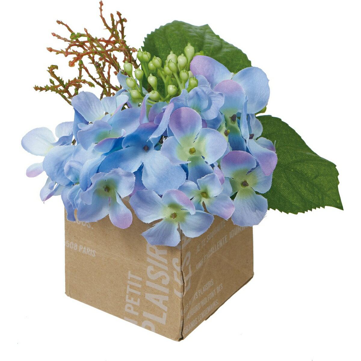 【造花】YDM/ハイドレンジアポット ブルー/FS8264-BLU【01】【取寄】