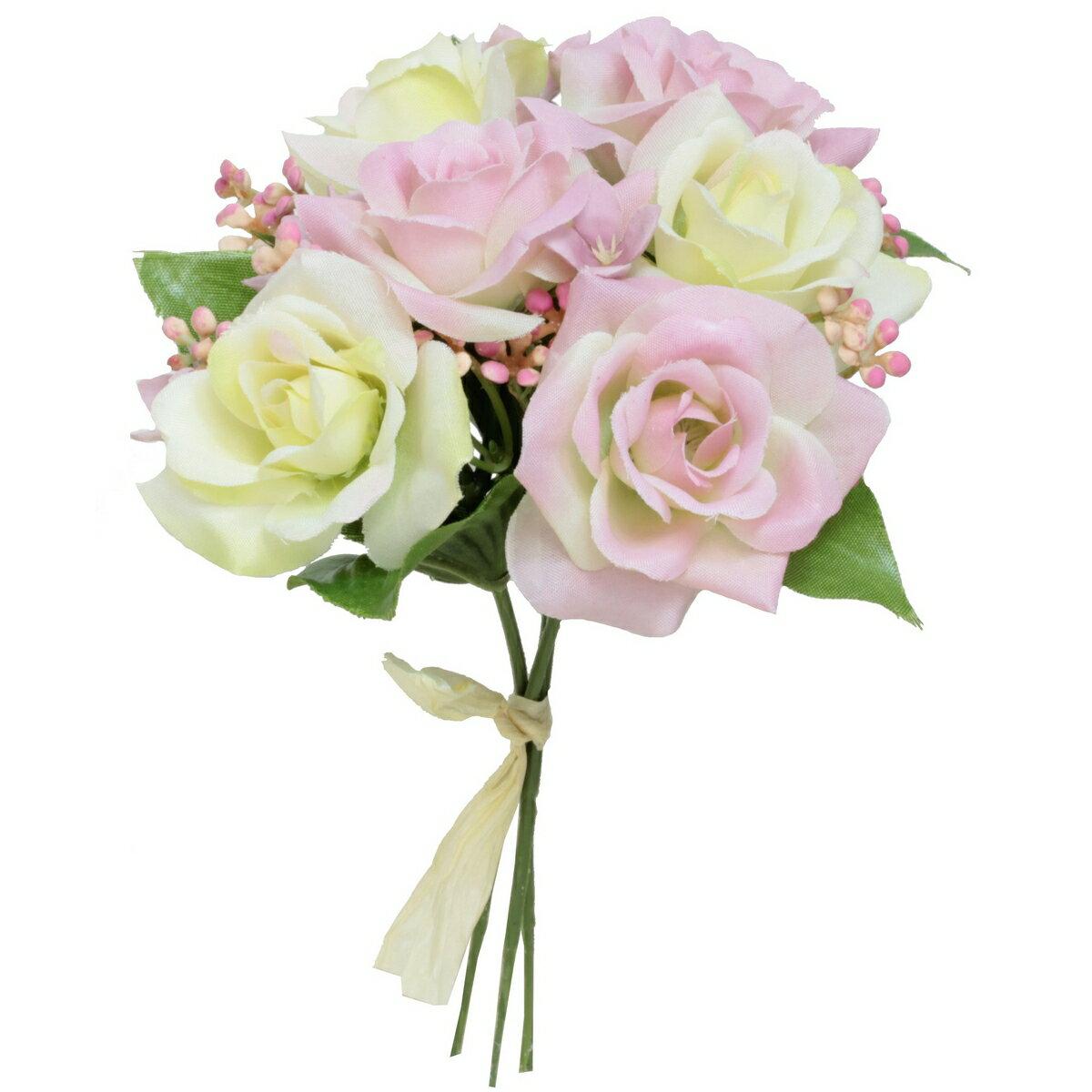 即日 【造花】パレ/ミックスローズバンドル ピンク/P-8302-30|造花 バラ