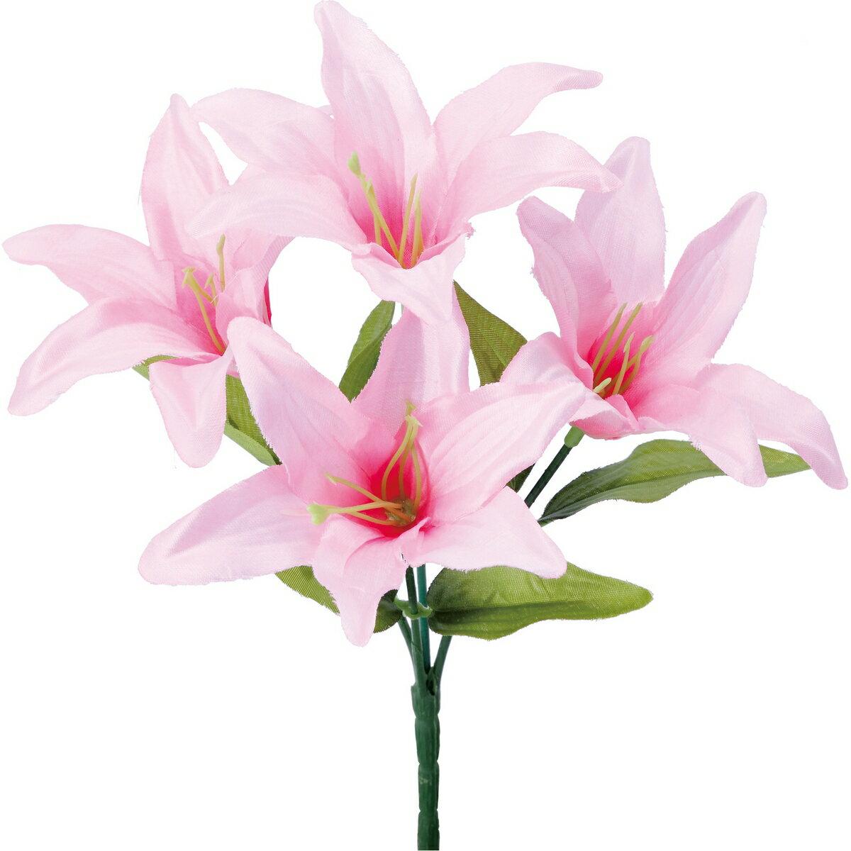 即日 【造花】YDM/リリーブッシュ ピンク/FB-2491-P