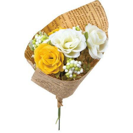 【造花】YDM/フィンガーローズブーケ イエロー/FBC8041-Y|造花 バラ【01】【01】【取寄】《 造花(アーティフィシャルフラワー) 造花 花材「は行」 バラ 》