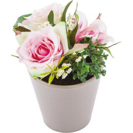 即日 【造花】YDM/ローズミックスポット ピンク/FBC8057-P|造花 バラ