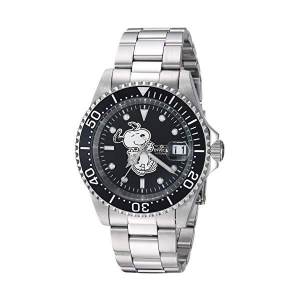 インビクタ INVICTA インヴィクタ 腕時計 ウォッチ 24782 スヌーピーメンズ 男性用 Invicta Men's Automatic-self-Wind Watch with Stainless-Steel Strap, Silver, 20 (Model: 24782)