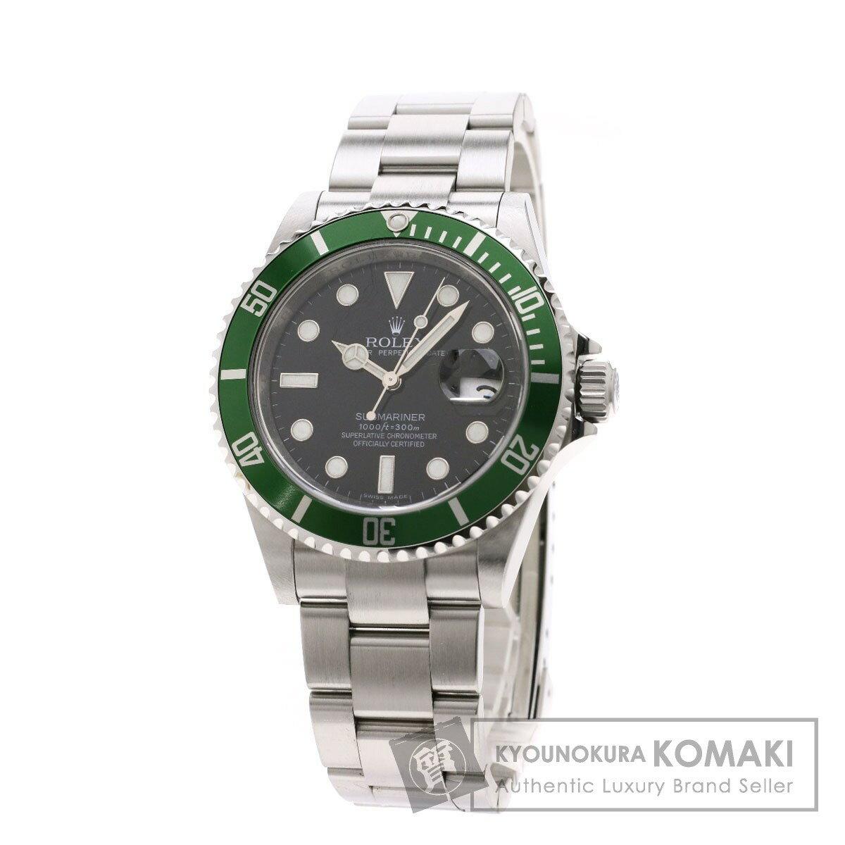 ロレックス 16610LV サブマリーナ デイト グリーンベゼル 腕時計 ステンレススチール/SS メンズ 【中古】【ROLEX】