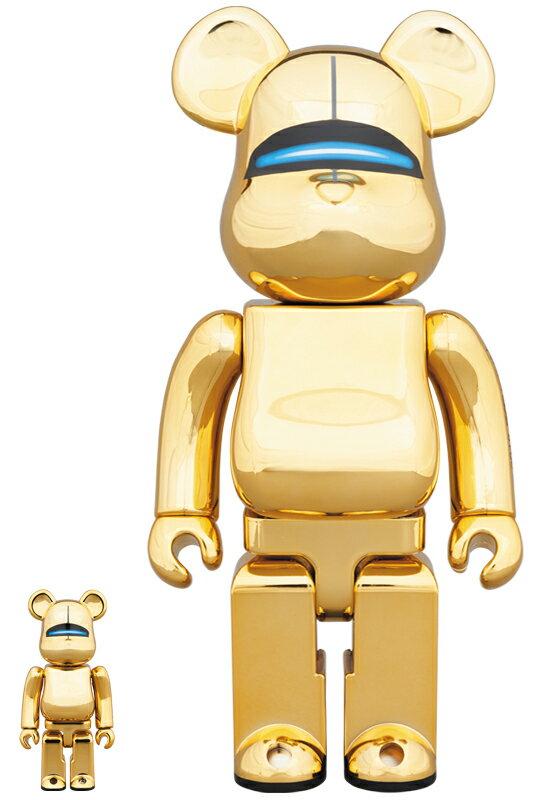 SORAYAMA SEXY ROBOT GOLD BE@RBRICK 100% & 400%