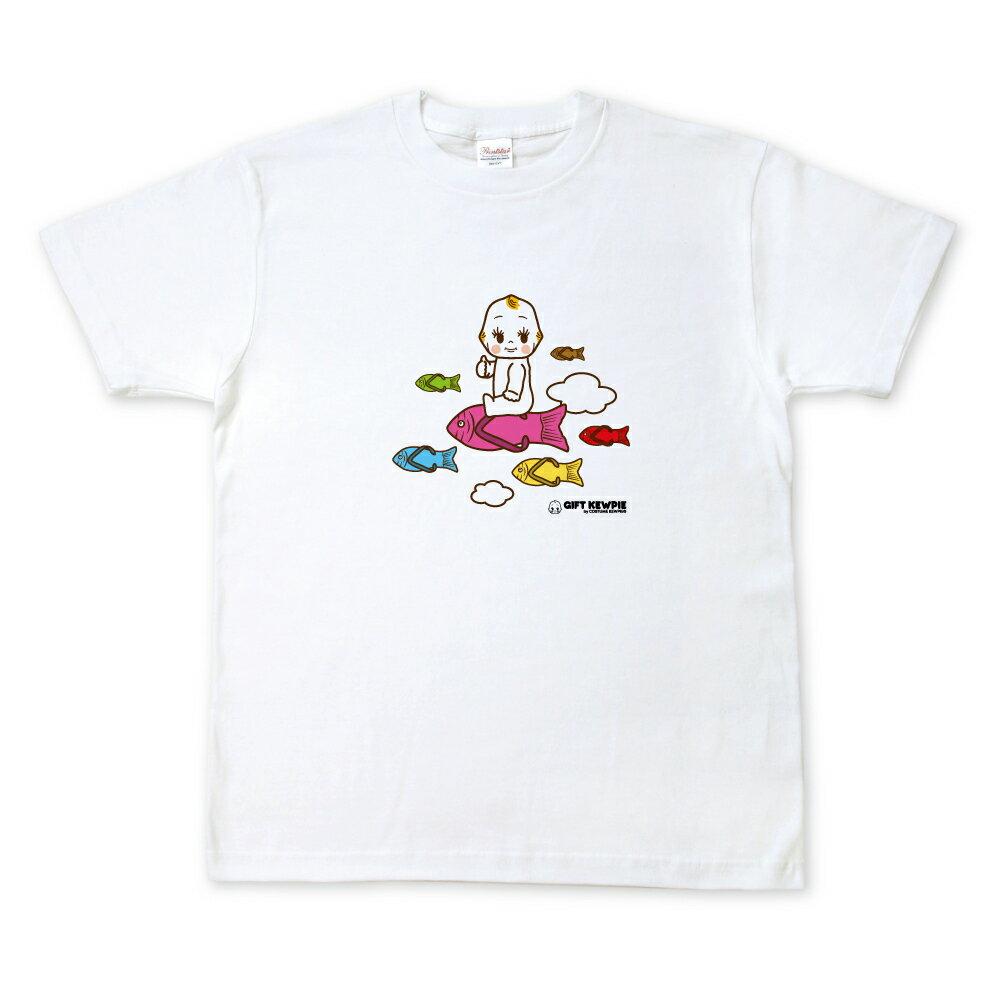 【沖縄から発送】キューピーコラボ【限定Tシャツ】 【GIFT KEWPIE】【湘南】 空飛ぶキユーピーとお魚サンダル