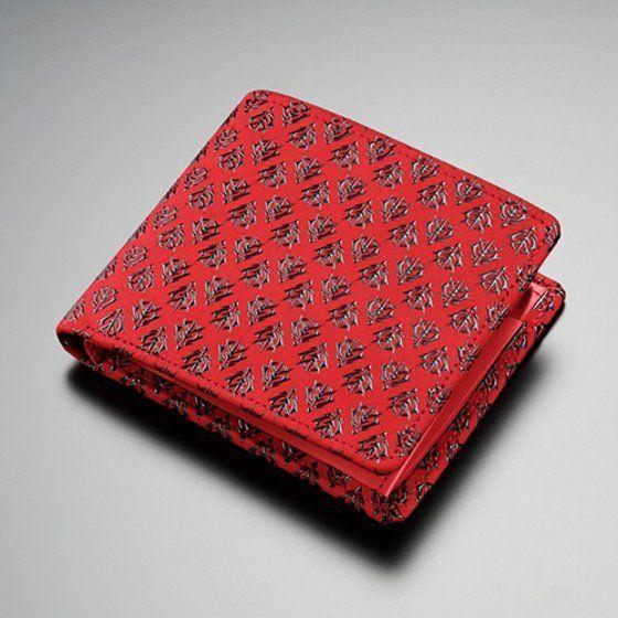 機動戦士ガンダム×印傳屋 シャア専用 二折財布(赤×黒)