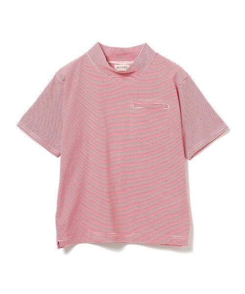 BEAMS BOY / ハイネック ポケット ショートスリーブ Tシャツ