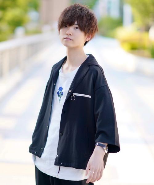 ファッションインフルエンサー こめ × INTER FACTORY ジップポケットオープンカラーシャツ