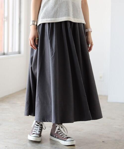 GRAMICCI × BEAMS BOY / 別注 ギャバ ロング スカート