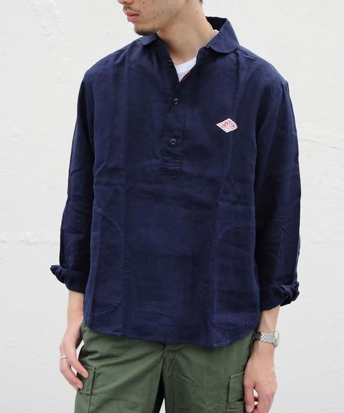 Danton / DANTON / ダントン リネンプルオーバーシャツ #JD-3568KLS