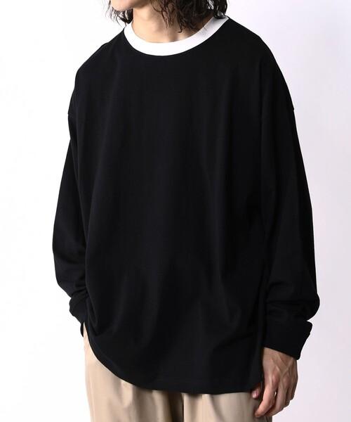 FREAK'S STORE / WEB限定 ビッグシルエット 襟配色 ロングスリーブ リンガーTシャツ/ロンT (58967152)