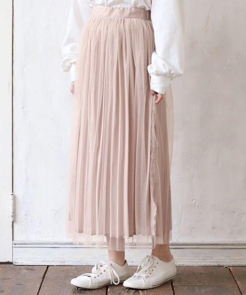 リバーシブルプリーツスカート