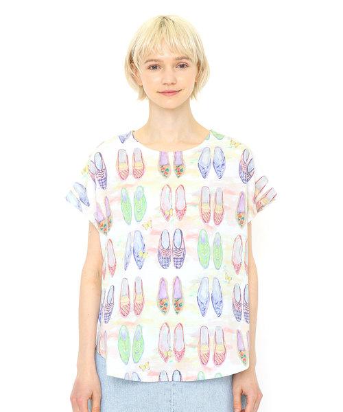 ラウンドネックボックスTシャツ(ヴァリアスシューズ)(マルチ)