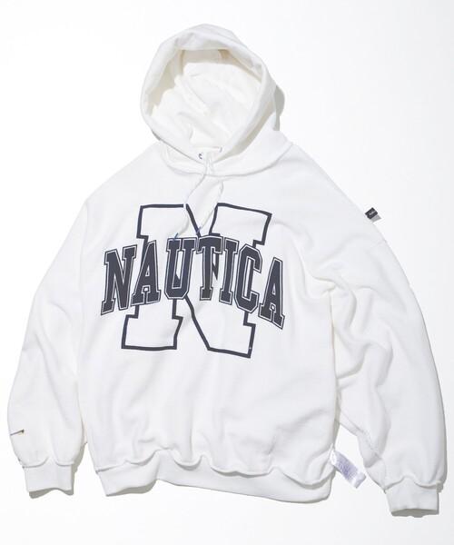 NAUTICA/ノーティカ フロントをis-nessが描いて、バックをナイジェルグラフが描いたインサイドアウトスエットフーディー