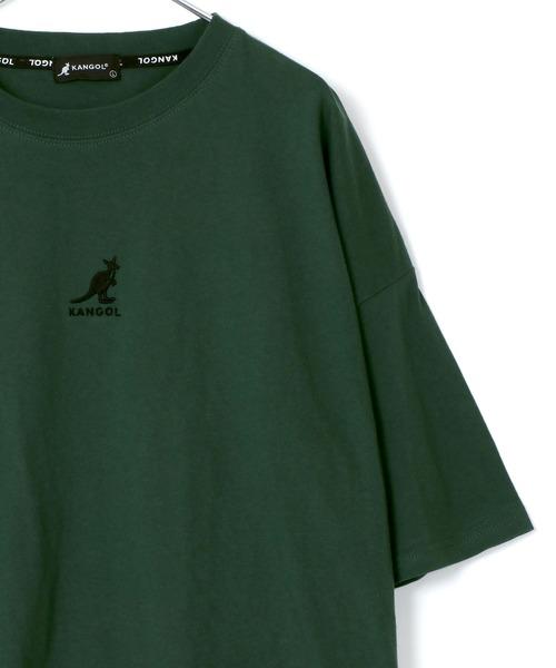 KANGOL/カンゴール × Lazar 【別注】 ビッグシルエット ミニロゴ刺繍 Tシャツ