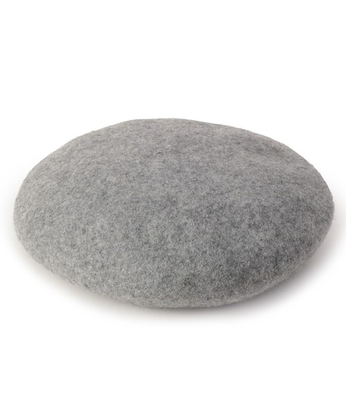 リブ付きベレー帽