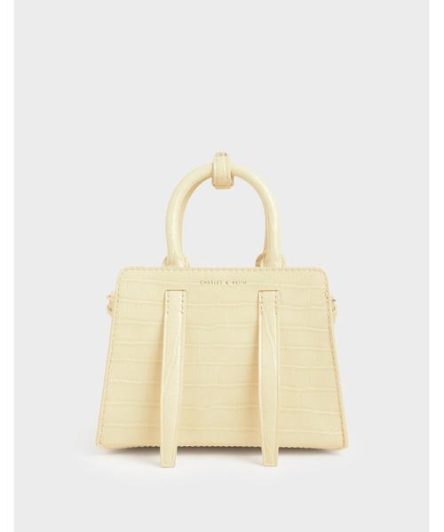クロックエフェクト ハンドバッグ / Croc-Effect Handbag