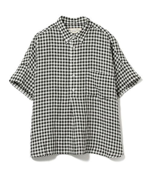 BEAMS BOY / リネン ボタンダウン プルオーバー シャツ