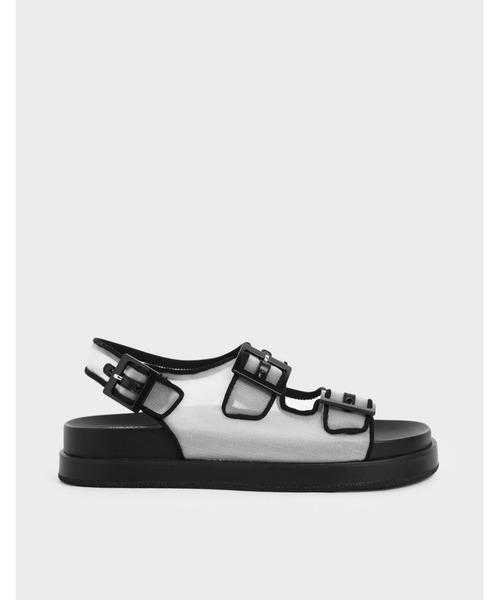 メッシュフラットフォーム サンダル / Mesh Flatform Sandals