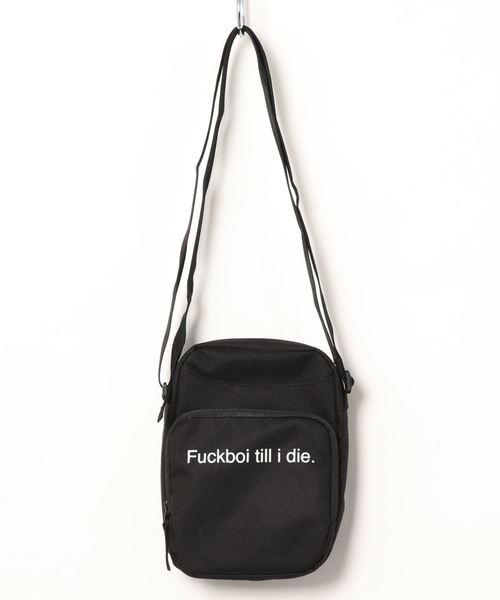 【F.A.M.T. / ファック・アート・メイク・ティーズ】 Fuckboi till i die Crossbody Bag