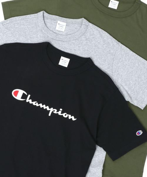 2020S/S Champion/チャンピオン ロゴ クルーネック Tシャツ