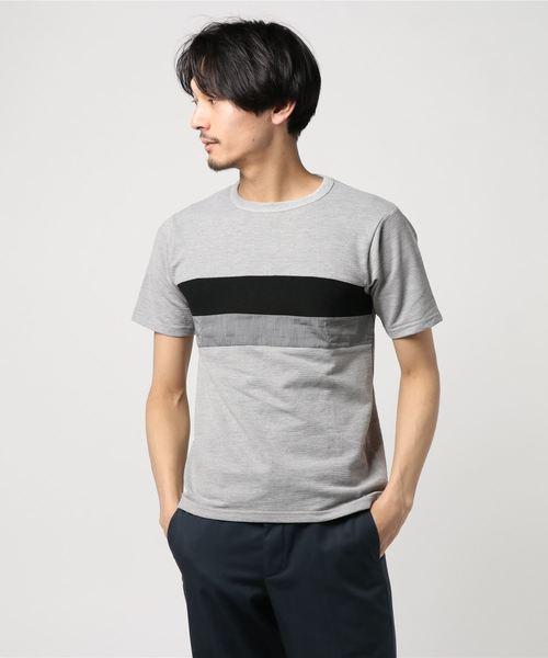 :切替ボーダーTシャツ SS