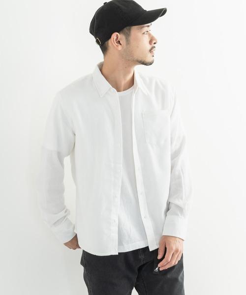 コットン100% フランネル 無地 長袖シャツ レギュラーカラー チェックシャツ
