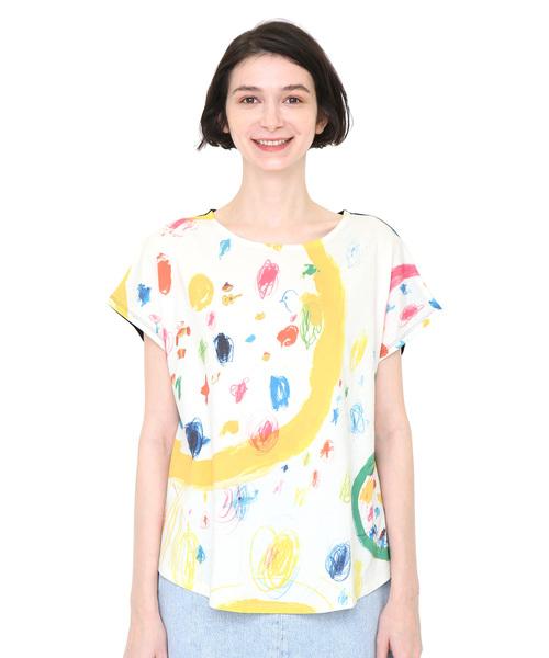 コラボレーションボックスTシャツ/ぼくらのエコー(荒井良二)(ホワイト)