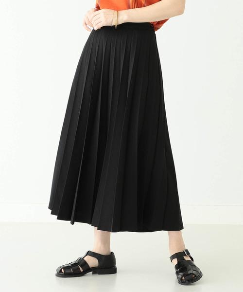 BEAMS BOY / ポリエステル アコーディオン プリーツ スカート