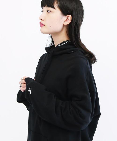 【新色追加】KANGOL ( カンゴール ) 刺繍ロゴ スウェット プルパーカー / フーディー Lulu&Arnieセレクト
