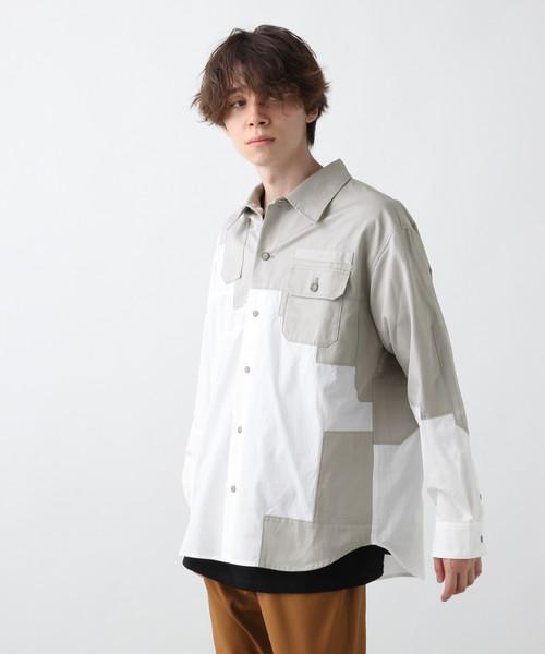 パッチワークシャツ(HARE)