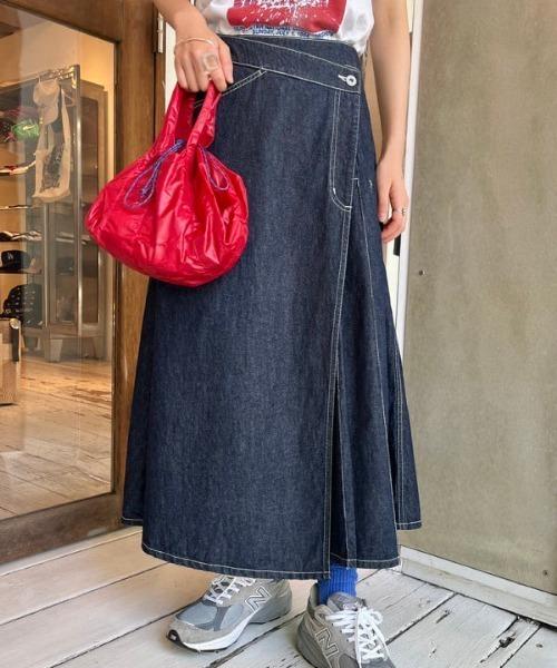 BEAMS BOY / ラップ プリーツ スカート