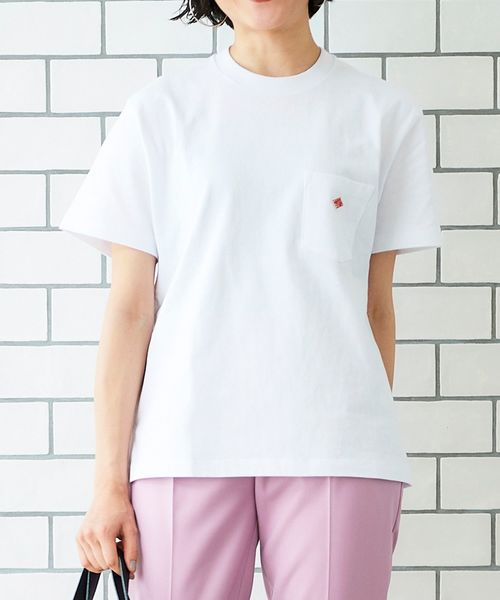 DANTONクルーネック半袖Tシャツ