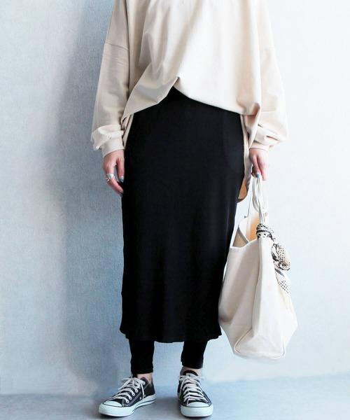 【zozo限定】レギンスセット スリット入りタイトスカート