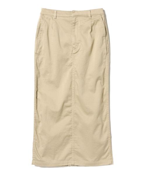 BEAMS BOY /ストレッチ サテン ロングスカート