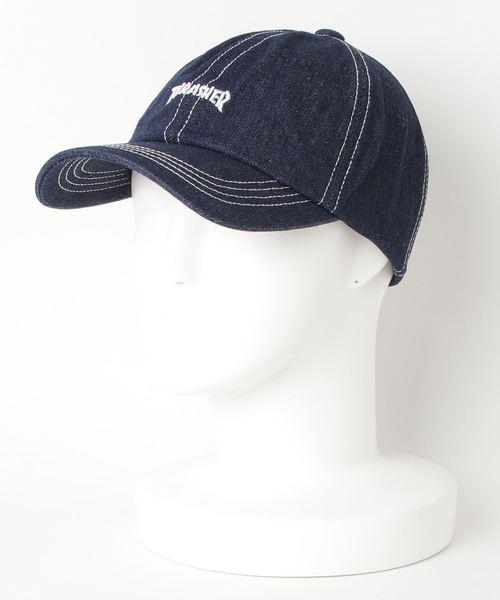 DENIM STITCH DAD CAP/スラッシャー ロゴ キャップ 帽子 ユニセックス