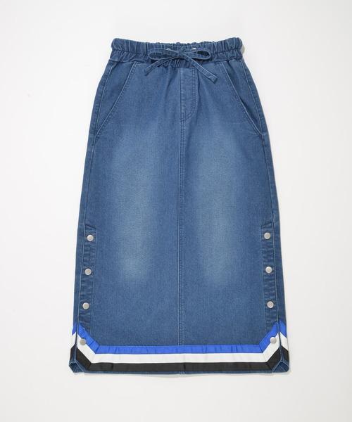 3ラインテープデニムタイトスカート