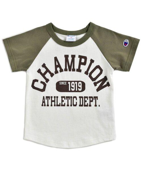 Champion(チャンピオン) ラグランプリントTシャツ ロゴ