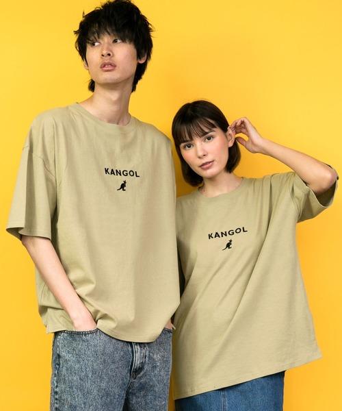 KANGOL◆ワンポイントロゴ刺繍半袖Tシャツ◆別注