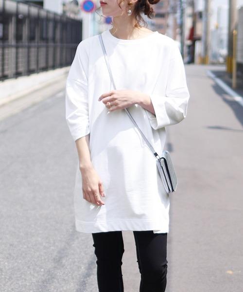 8分袖ロングTシャツ