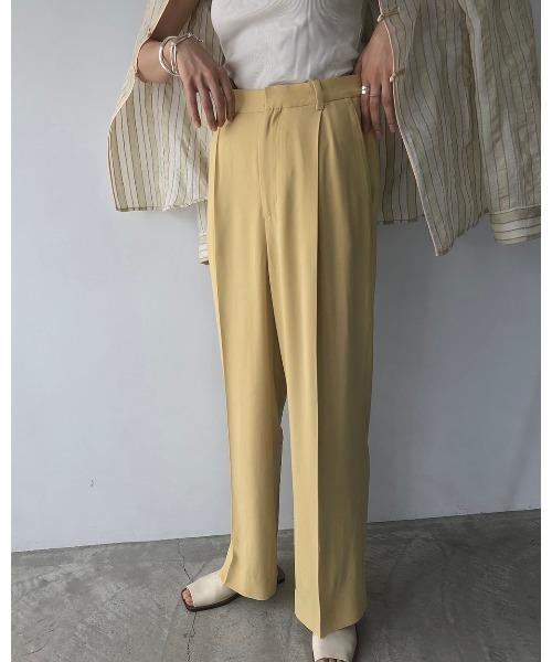TODAYFUL(トゥデイフル) 'Georgette Rough Trousers'ジョーゼットラフトラウザー/12010708
