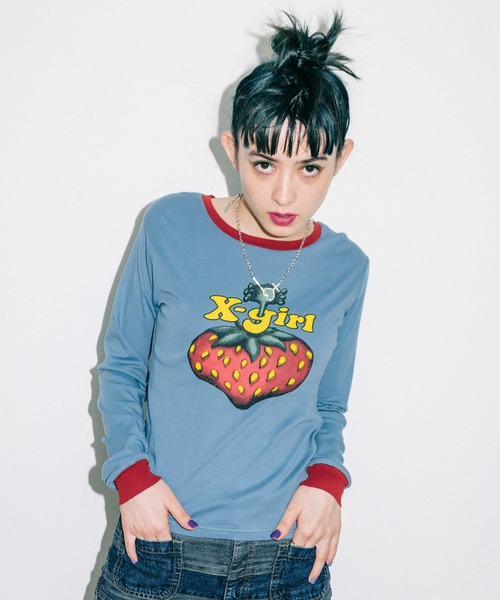 X-girl × HYSTERIC GLAMOUR BERRY L/S BABY TEE