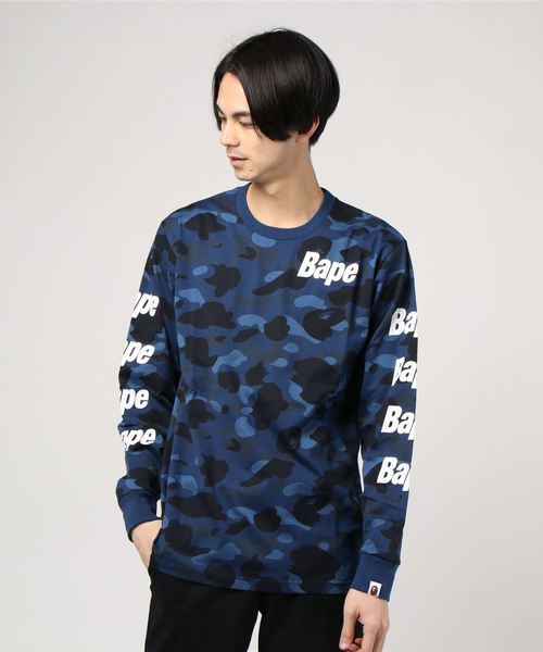 COLOR CAMO BAPE L/S TEE M