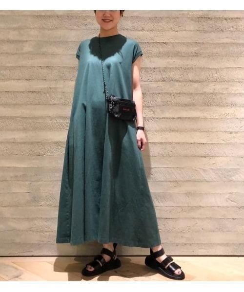 Champion × BEAMS BOY / 別注 Aライン ノースリーブ ドレス