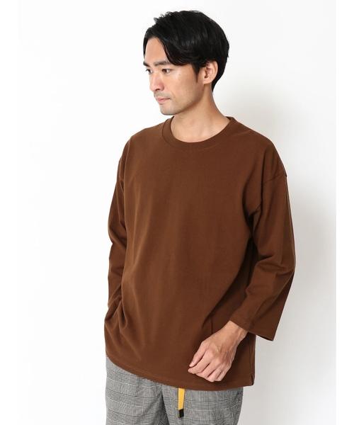 ・10/-ヘビーウエイト七分袖Tシャツ *
