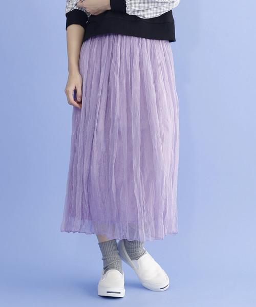 シフォンギャザースカート1760