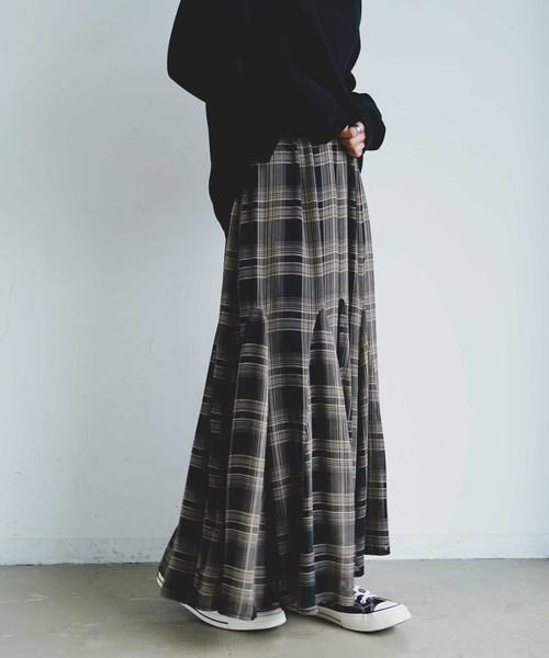 INTER FACTORY フレアロングスカート
